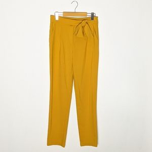 Potter's pot mustard yellow dress pants with bow